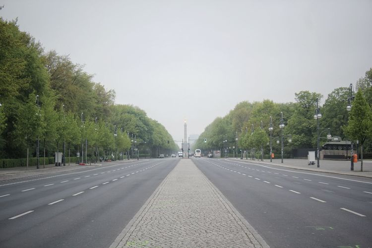 Architecture Berlin Capital Cities  Car Cars City Clear Sky Day Diminishing Perspective Germany Moody Sky Nature No People Outdoors Road Siegessäule  Sky Straße Des 17. Juni The Way Forward Transportation Travel Travel Destinations Tree Berlin Love