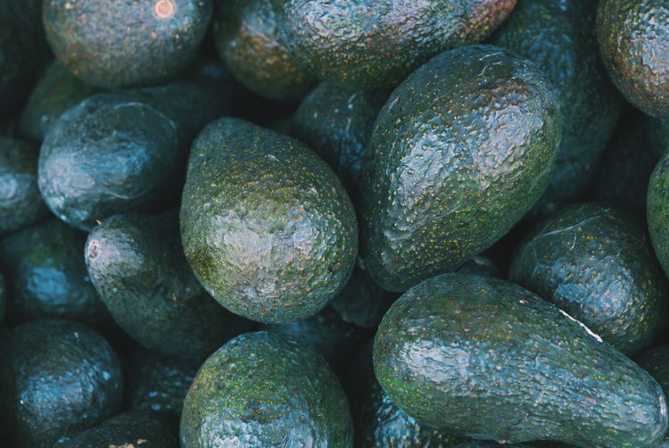 Full frame shot of avocados for sale