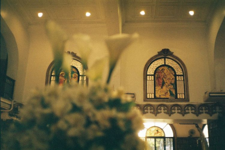 Church Wedding Wedding Photography Altar Arch Architecture Art And Craft Belief Building Built Structure Ceiling Church Architecture Electric Lamp Illuminated Indoors  Lighting Equipment Low Angle View No People Place Of Worship Religion Spirituality Wedding Day Wedding Dress Window