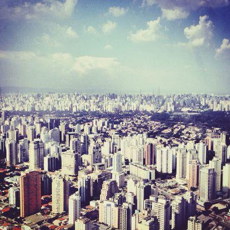 Vista aérea Skyline Sãopaulo Airport Aerial View