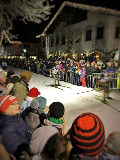 Skiing City Biathlon Having Fun Snow Downtown Competition Gapa1516
