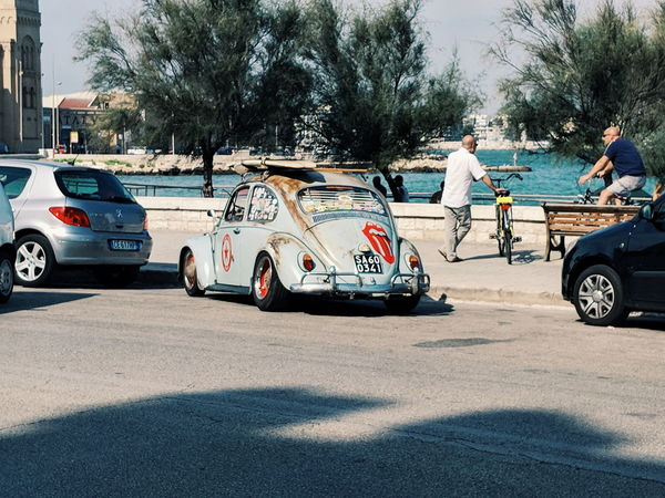The legend Coastline VW Beetle Italy Puglia Bari Vacations Travel Photography Traveling Travel Destinations VSCO Tree Men Land Vehicle Road Police Force Car Motorcycle Sky Auto Racing Racecar