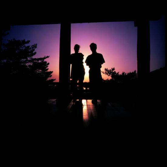 Northkorean Sunsets Analogue Photography ASIA DPRK Hotel Kaesong Korea Lomography Men Nature Northkorea Outdoors Silhouette Slidefilm Summer Sunset Temple Tourism Trip Van