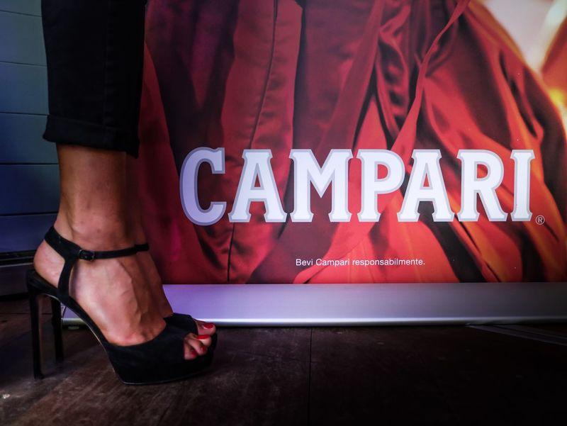 Campari Model Heels Foot ArtWork Taking Photos