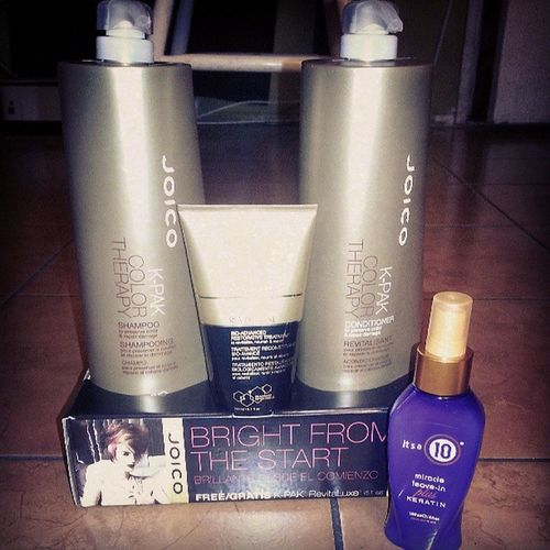 My new babies <3 NoMoreDamageHair Joico CosmoProf ProfessionalSalonBrands COSMOLife. :)