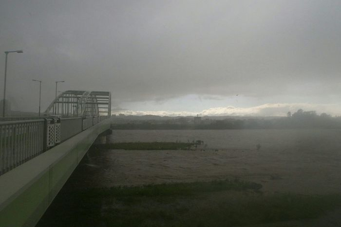 Riverside River Typhoon Natural Disaster Tamagawa Ricoh GRD III Wideangle Dangerous High Water Level Strange Weather