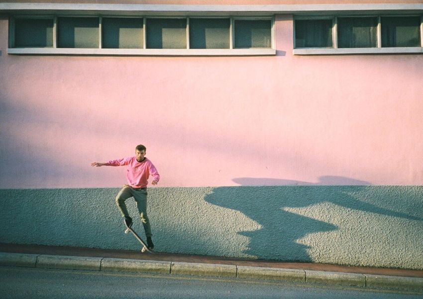 Herr Koni 💎 35mm Filmisnotdead Pink Skateboarding Colors Analogue Photography Film Photography Portugal On The Way Colour Of Life Color Palette TakeoverContrast The City Light Millennial Pink