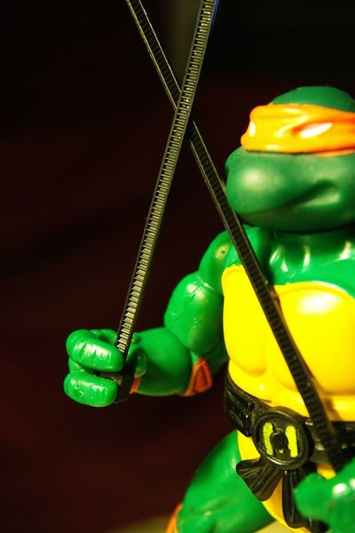 Zip-tie wielding Michelangelo...and the end of Project A-Z. Projectaz Zipties 365 Photoproject Michelangelo Tmnt Day26