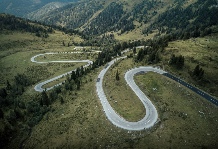 curvy road from above with drone Road Mountain Transportation Environment Winding Road Landscape Curve Mountain Road High Angle View Scenics - Nature No People Nature Non-urban Scene Mode Of Transportation Beauty In Nature Mountain Range Plant Tree Day Tranquility Outdoors