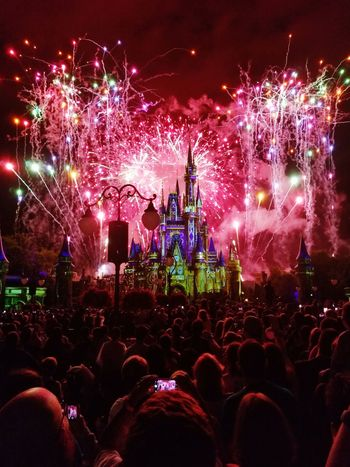 Magic Kingdom fireworks, May 2017. Orlando, FL Night Celebration Firework Display Large Group Of People Firework - Man Made Object Illuminated Celebration Event Excitement People Nightlife Multi Colored Arts Culture And Entertainment Event Crowd Samsung Galaxy S8+ Fireworks Firework