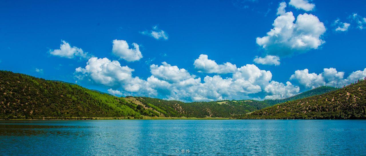 如空 Water Sky Cloud - Sky Beauty In Nature Scenics - Nature Tranquil Scene Tranquility Blue Mountain Nature No People Lake Outdoors Non-urban Scene
