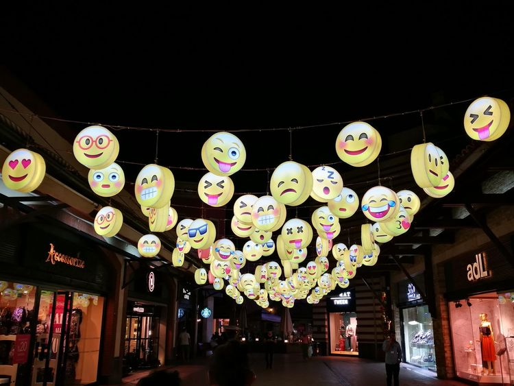 Emoji Large Group Of Objects Night Multi Colored Cultures Outdoors Tourism Photography Emotions Emotion Emotional Photography Emotion In Life Emotions In A Picture Emotional Photos