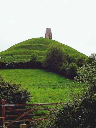 Glastonbury Tor Green Color Historical Building Mystery