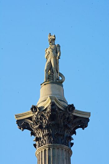 Nelson Statue Blue Travel Destinations Clear Sky Travel Sky Sculpture No People Architecture Outdoors Day Nelson's Column EyeEm Best Shots City Life Travel