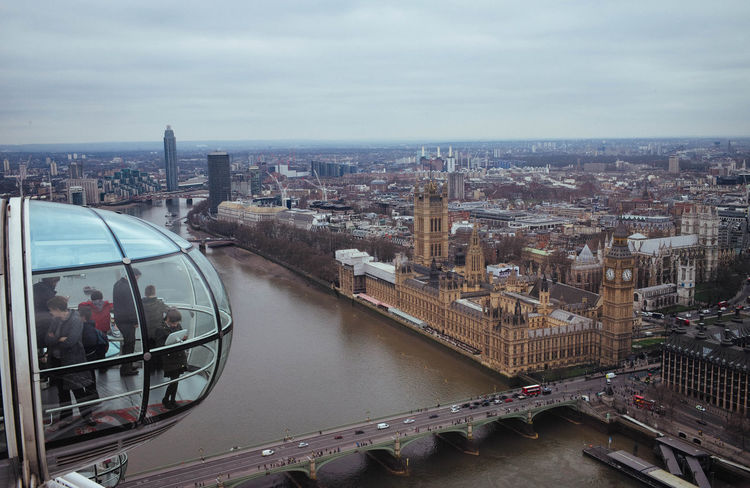 London London Eye Cloudy This Is What I Saw Day Off View From Above City River