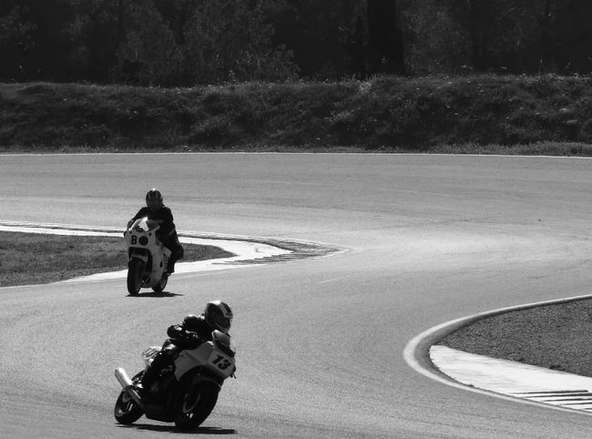 Motorcycle Race Black And White Competition Competition Day Day Double Curve Monochrome Outdoors People Welcome To Black Two People
