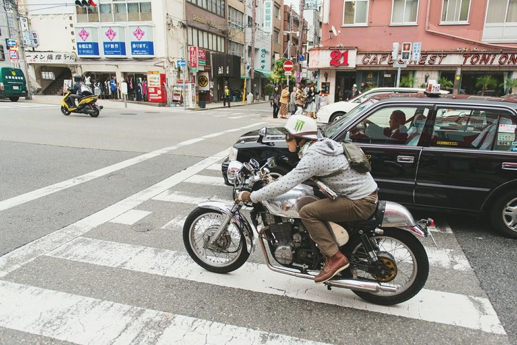 OSAKA Motorcycle Honda CB750 Japan Hanging Out Hello World