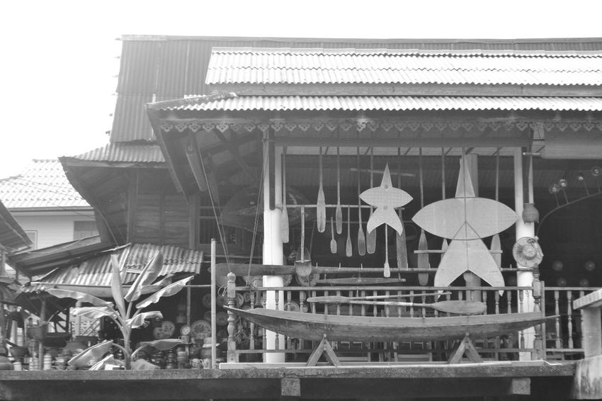 Architecture Boat Building Exterior Chula Ki Culture Kite Maintainance Row Boat Thailand