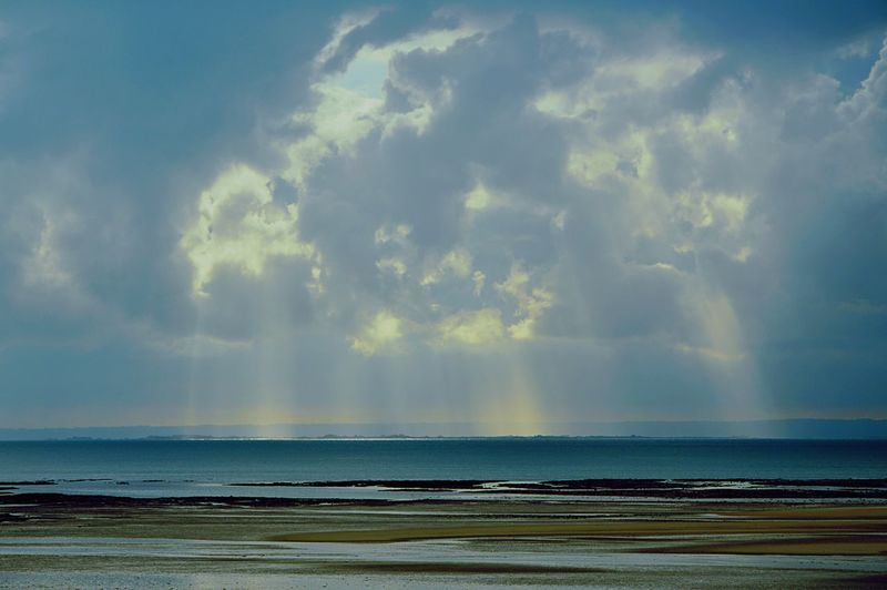 Beach Horizon Over Water Sand Beauty In Nature Sea Water Nature Tranquil Scene No People Light Clouds Sky Sun Scenics