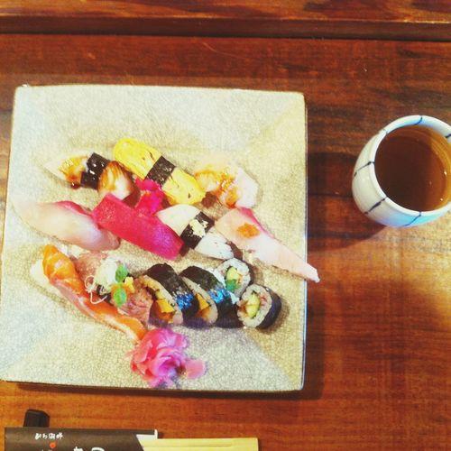 Eating Sushi Nigiri Food お吸い物と茶碗蒸しも♡