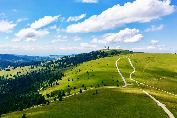 Wege Betterlandscapes Feldbergturm Beauty In Nature Nature Tranquil Scene Sky Cloud - Sky Scenics Landscape Green Color Outdoors Grass