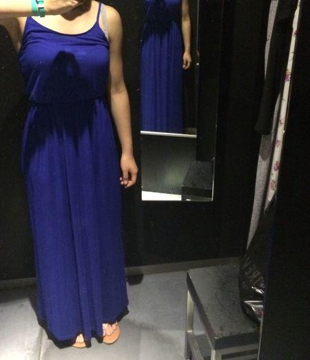 Soho NYC Shopping Clothes Maxi Dress Royal Blue  Necklace Girl Girly