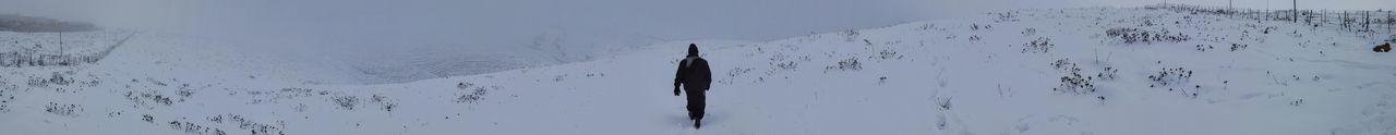 Alone Exploring Pioneer Snow ❄ Walking Away Beauty In Nature Close-up Cold Temperature Day Exploration Journey Lone Nature Outdoors Panoramic Sky Snow Snow Covered Snow Day Snowcapped Mountain Unique Unknown Journey Walking Walking Alone... Winter Shades Of Winter Love Yourself