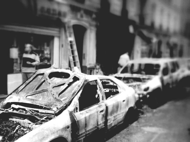My street 4 years ago: after flames, reedit for the Pyromantic Bnw_friday_eyeemchallenge