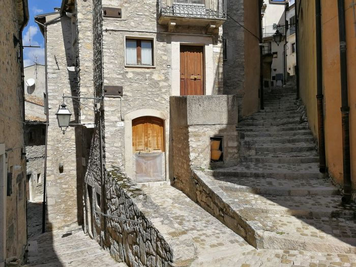 Vicoli del centro storico di Barrea Barrea Alley Architecture Borgo Medievale Building Building Exterior Built Structure Centro Storico City Day Direction Door Entrance History House No People Old Outdoors Parco Nazionale D'abruzzo Residential District Staircase The Past The Way Forward Town Window