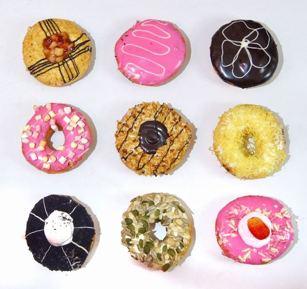 Multicolor doughnuts isolated on whiteCarbohydrates Beauty Multi Colored No People Variation White Background Doughnuts Tasty Unhealthy Eat Food Isolated Sugar Sweet Calories Bakery Pastry