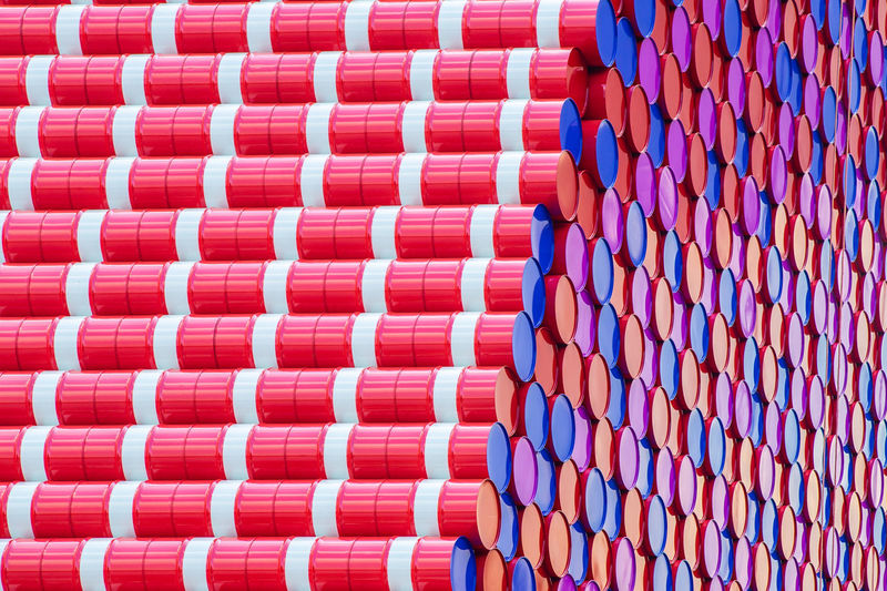 The Mastaba (Project for London, Hyde Park, Serpentine Lake): First public sculpture created for the UK by Christo and Jean-Claude. Made of 7,506 specially fabricated multi-coloured barrels inspired by surroundings of the lake. (Photo taken:6 March 2018) Colourful Construction London Mastaba Mastaba Project, Public Sculpture Art Barrel colour of life Day Editorial  Hyde Park Lake Multi-coloured Outdoors Outdoors Photograpghy  Public Art Sculpture Serpentine