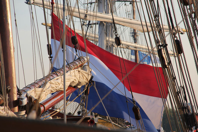 View of france flag in ship