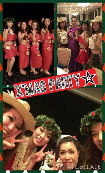 X'mas party☆ DANCE ♥ フラダンス タヒチ Happy