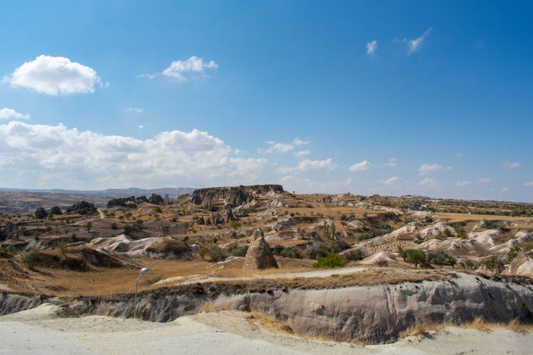 Göreme Turkey Turkish Cappadocia Sky Cloud - Sky Environment Landscape Tranquil Scene Day Nature Tranquility Rock Land Scenics - Nature No People Beauty In Nature Rock - Object Solid Non-urban Scene Rock Formation Outdoors Desert Horizon Over Land Arid Climate Climate