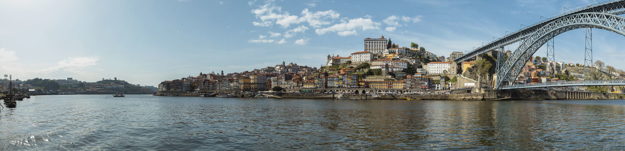 Panoramic View Of Porto Panorama Porto Portugal Architecture Bridge Bridge - Man Made Structure Building Building Exterior Built Structure City Cityscape Cloud - Sky Connection Day Duro Nature No People Outdoors Passenger Craft River Sky Transportation Travel Destinations Water