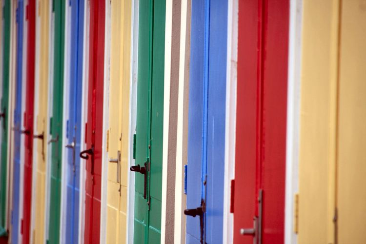 EyeEm Selects Multi Colored Full Frame No People Indoors  Textile Blue Architecture Wall - Building Feature Day Backgrounds Built Structure Close-up Choice Protection Security Door Art And Craft Pattern In A Row