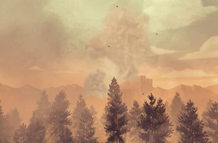 Firewatch Game Screenshot Gaming Videogames Games Game Nerd Picoftheday Videogame  Landscape Photography Lovely Lovelyday Xbox Xbox360 Instagram Travel Traveldiaries Instapic Instagamer IGN Kotaku Pcgamer PCGaming tree_captures smoke fire lifeisgood herewego life