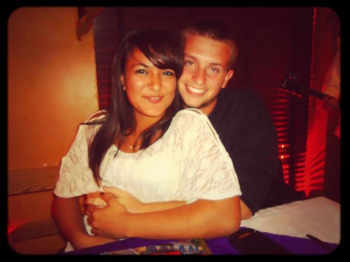 """Has to be my favorite """"normal picture"""" of me and Chris <3 this was last may at my Jason and Micheles rehearsal dinner"""