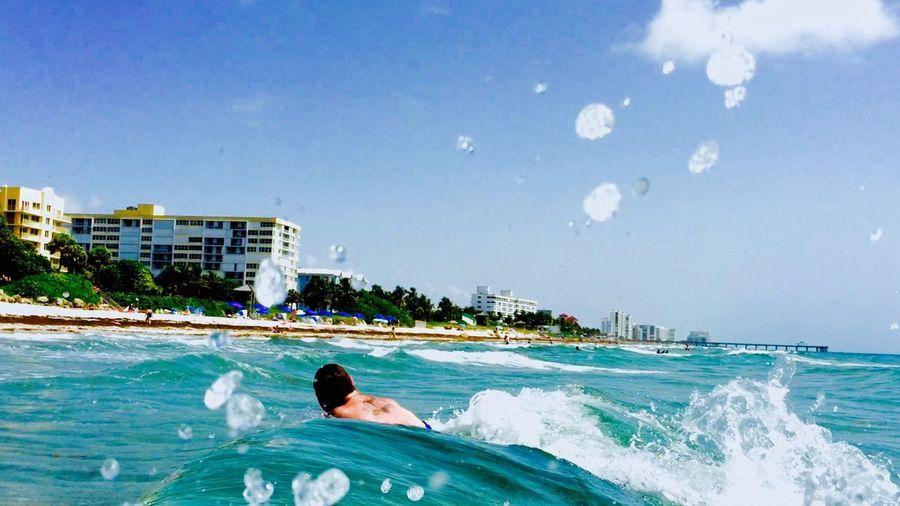 My Love at Deerfield Beach Catchingwaves ... Loving Life!