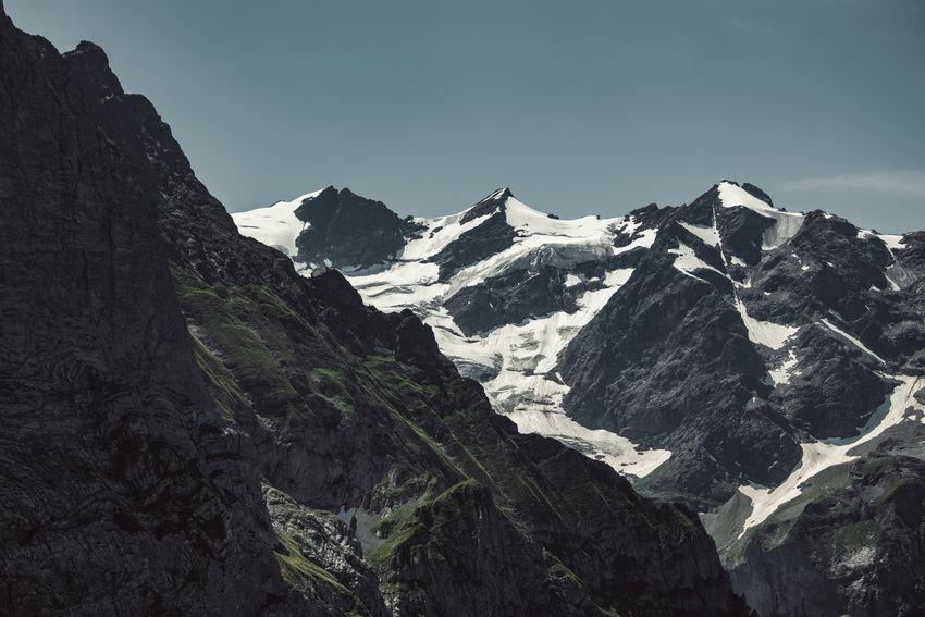 Environment Formation Grosse Scheidegg Landscape Mountain Mountain Peak Mountain Range Nature Outdoors Rock Rock - Object Snow Snowcapped Mountain Swiss Alps