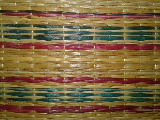 Natural mats, thai people, background Backgrounds Full Frame Multi Colored Pattern Textile No People Indoors