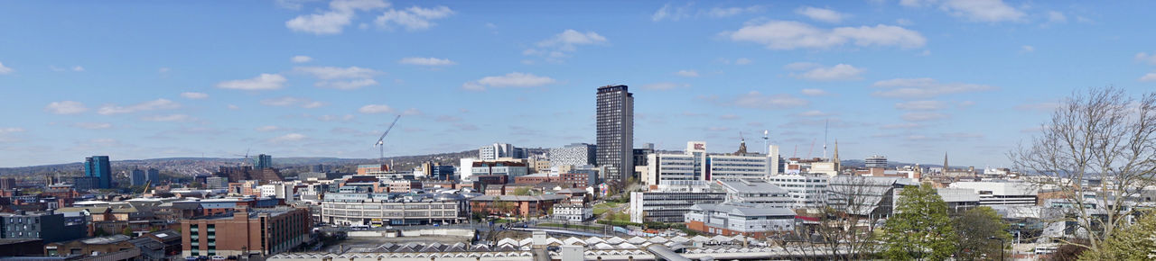 Sheffield city panorama view Sheffield Building Exterior Architecture Built Structure City Sky Cityscape Building Panoramic Cloud - Sky Nature Landscape Residential District Office Building Exterior Skyscraper Urban Skyline No People Day City Life Travel Destinations Outdoors Modern Apartment