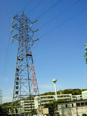 Transmission Tower Transmission Line Tower Blue Sky Sky Lookingup Electric Wire