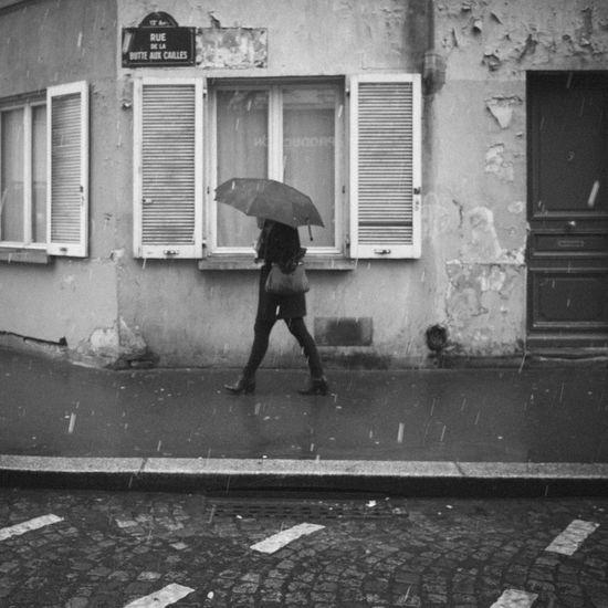 Rainy Days Blackandwhite monochrome photography Rain Streetphotography Umbrella Wet