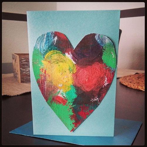 ValentinstagKarte von meiner kleinen Tochter. :-) Valentinstag