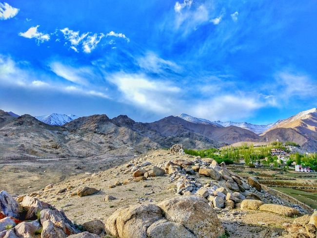 Blue dream. EyeEmNewHere Cloud - Sky Mountain Landscape Mountain Range Sky Nature Outdoors Scenics Day No People Beauty In Nature Blue Ladakh Lovers Travelling Photography Ladakhdiaries Travel Destinations Incredible India Hills And Valleys