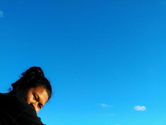 Blue Sky That's Me Jalan-jalan Enjoying The Sun Beach Day Backpackerindonesia National Park Meru Betiri Visit Jember EyeEm Indonesia