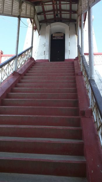 Built Structure Staircase Railing The Way Forward Architecture Steps Steps And Staircases Day Indoors  No People Sky Exit Sign Highvoltage Leisure Activity Travel Vacations
