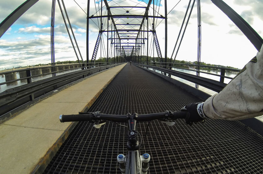 Walnut St. Bridge. GoPro snap. Harrisburg, Pa Bridge Bridge - Man Made Structure Bike Biking MTB MTB ADVENTURE Green Belt Structure Bicycle On My Bike Malephotographerofthemonth Gopro POV From My Point Of View Landscape Wide Angle Sport Action The Great Outdoors - 2016 EyeEm Awards Check This Out All_shots Street Photography Streamzoofamily Athleisure