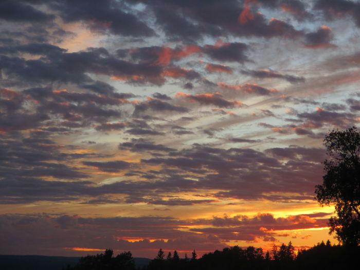 Sunset Clouds Sweden Sundsvall
